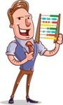 Cartoon Teacher Vector Character - With an Abacus