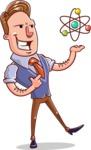 Cartoon Teacher Vector Character - Biology Lesson