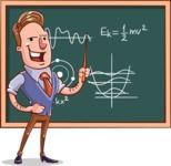 Cartoon Teacher Vector Character - Physics Lesson