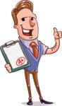 Cartoon Teacher Vector Character - Getting Grade