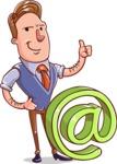 Cartoon Teacher Vector Character - Email