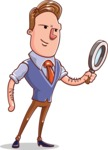 Cartoon Teacher Vector Character - Searching for Solution