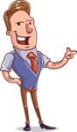 Cartoon Teacher Vector Character - Point