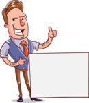 Cartoon Teacher Vector Character - Sign 1
