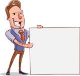 Cartoon Teacher Vector Character - Sign 2