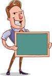 Cartoon Teacher Vector Character - Presentation 1