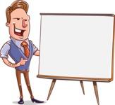 Cartoon Teacher Vector Character - Presentation 2