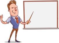 Cartoon Teacher Vector Character - Presentation 3