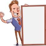 Cartoon Teacher Vector Character - Presentation 4