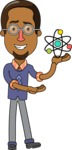 Minimalist African-American Male Teacher Character - Biology Lesson