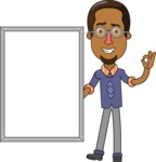 Minimalist African-American Male Teacher Character - Presentation 4