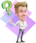 Blond Businessman Cartoon Vector Character - Shape 11