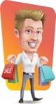 Blond Businessman Cartoon Vector Character - Shape 12