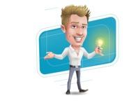 Blond Businessman Cartoon Vector Character - Shape10