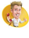Blond Businessman Cartoon Vector Character - Shape4