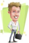 Blond Businessman Cartoon Vector Character - Shape5