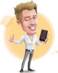 Blond Businessman Cartoon Vector Character - Shape7