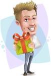 Blond Businessman Cartoon Vector Character - Shape8
