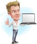 Blond Businessman Cartoon Vector Character - Shape9
