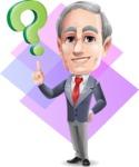 Mature Businessman Cartoon Vector Character - Shape 11