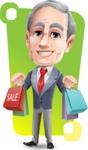 Mature Businessman Cartoon Vector Character - Shape 12