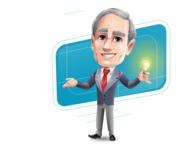 Mature Businessman Cartoon Vector Character - Shape10