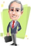 Mature Businessman Cartoon Vector Character - Shape5