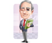 Mature Businessman Cartoon Vector Character - Shape6