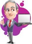 Mature Businessman Cartoon Vector Character - Shape9