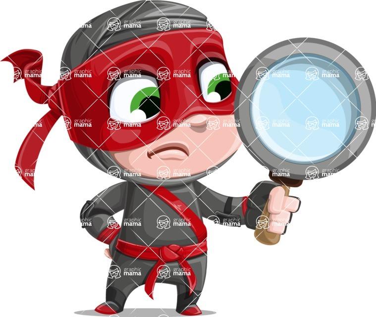 Little Ninja Kid Cartoon Vector Character AKA Shinobi The Curious Boy - Search