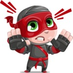 Little Ninja Kid Cartoon Vector Character AKA Shinobi The Curious Boy - Stop 1
