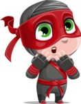 Little Ninja Kid Cartoon Vector Character AKA Shinobi The Curious Boy - Oops