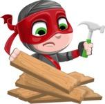 ninja boy vector - Repair