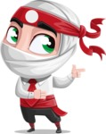 White Ninja with Business Clothes Vector Character Design AKA Yoshiro - Point 2