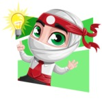 White Ninja with Business Clothes Vector Character Design AKA Yoshiro - Shape 4