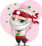 White Ninja with Business Clothes Vector Character Design AKA Yoshiro - Shape 5