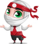 White Ninja with Business Clothes Vector Character Design AKA Yoshiro - Sorry