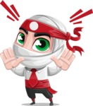 White Ninja with Business Clothes Vector Character Design AKA Yoshiro - Stop 1