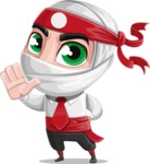 White Ninja with Business Clothes Vector Character Design AKA Yoshiro - Stop 2