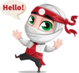 White Ninja with Business Clothes Vector Character Design AKA Yoshiro - Hello