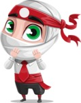 White Ninja with Business Clothes Vector Character Design AKA Yoshiro - Oops