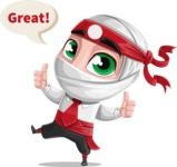 Yoshiro The Little Business Ninja - Thumbs Up