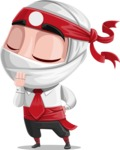 White Ninja with Business Clothes Vector Character Design AKA Yoshiro - Bored 2