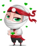 White Ninja with Business Clothes Vector Character Design AKA Yoshiro - Show Love