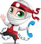 White Ninja with Business Clothes Vector Character Design AKA Yoshiro - Support 2