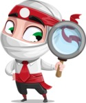 White Ninja with Business Clothes Vector Character Design AKA Yoshiro - Search