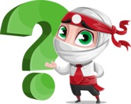 White Ninja with Business Clothes Vector Character Design AKA Yoshiro - Question