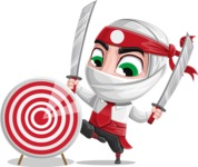 White Ninja with Business Clothes Vector Character Design AKA Yoshiro - Target