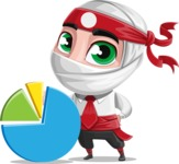White Ninja with Business Clothes Vector Character Design AKA Yoshiro - Chart