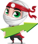 White Ninja with Business Clothes Vector Character Design AKA Yoshiro - Pointer 1